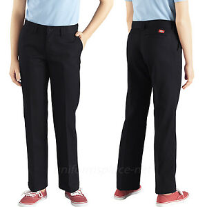 Dickies Girls Flat Front Pant