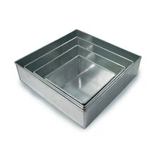 Set of 4 Tier Square Multilayer Birthday Wedding Anniversary Cake Tins /Cake Pan