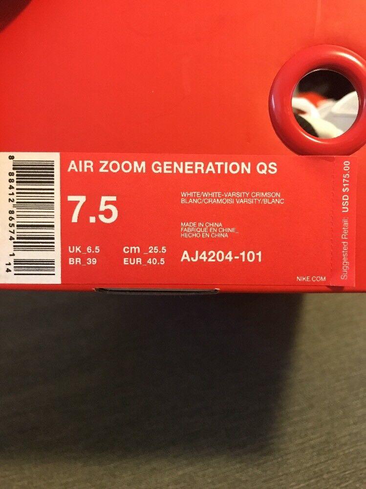 nike aj4204-101 zoom generation qs lebron aj4204-101 nike größe 7,5 b34fdf