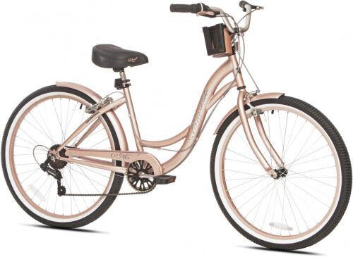 26 femme Kent Bayside Cruiser Vélo 7 Multi-Speed Femmes Rose-gold Vélo