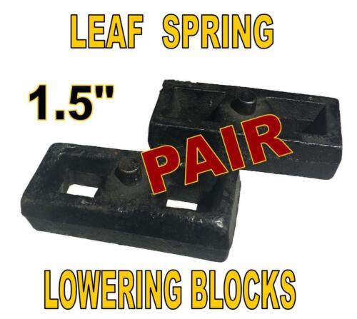 """1.5 Inch Leaf Spring Lift or Lowering Blocks 1-1//2/"""" PAIR Heavy Duty Steel"""