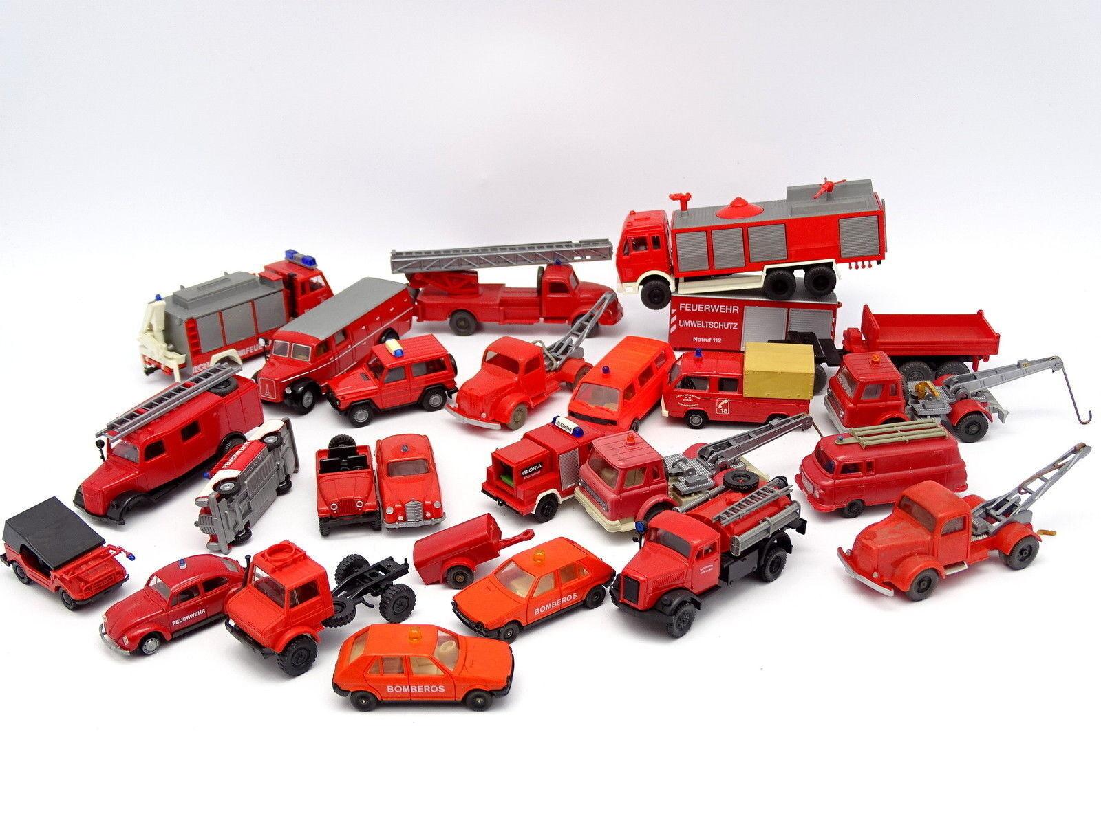 Disfruta de un 50% de descuento. Divers 1 87 HO - Lot de 24 24 24 véhicules Pompiers Feuerwehr   Fiat Mercedes Magirus  comprar nuevo barato