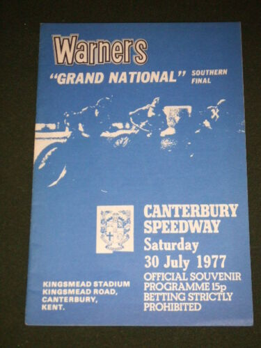 SPEEDWAY CANTERBURY GRAND NATIONAL 30 JULY 1977