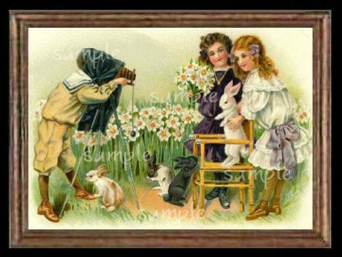 Victorian Easter Girls  Miniature Dollhouse  Picture