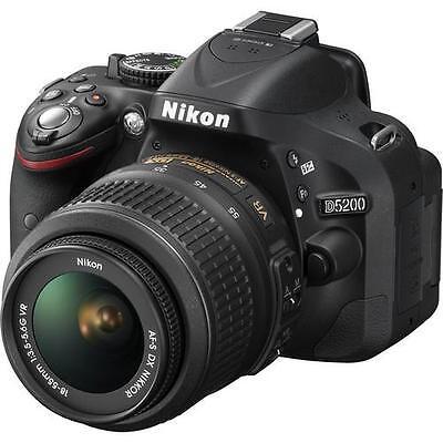 Nikon D5200 24.1 MP Digital SLR Camera - Black (Kit w/ 18-55 VR Lens)