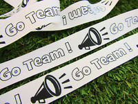 25 Yards go Team Megaphone Sports 7/8 Grosgrain Ribbon/cheerleading/craft R41