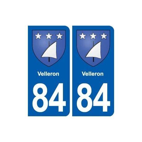 84 Velleron blason autocollant plaque stickers ville droits