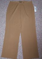 Multiples Tan Or Toffee Brown Wide Leg Flat Front Dress Pants Size 16
