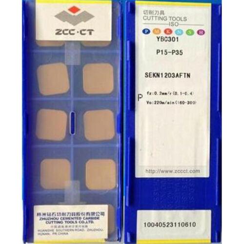 1box ZCC.CT SEKN1203AFTN YBC301 SEKN42 CARBIDE INSERTS milling blade 10PCS