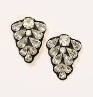 NWT Ann Taylor Loft Crystal Fabric Backed Tiers of Sparkle Post Back Earrings