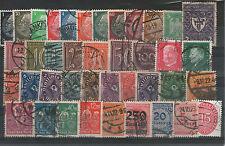 40 Briefmarken Sammlung Deutsches Reich Posthorn Ziffern Hindenburg gestempelt