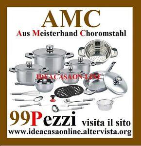 AMC-BATTERIA-DI-PENTOLE-99-PEZZI-ACCIAIO-INOX-18-10