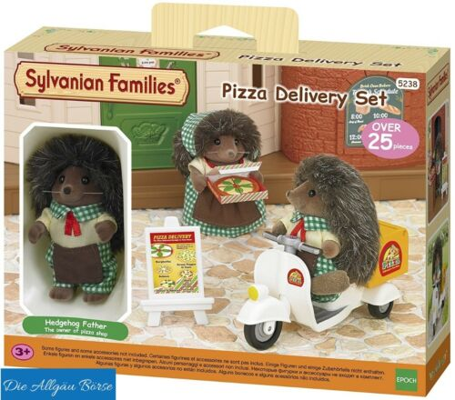 Sylvanian FAMILIES 5238 PIZZA servizio di consegna Set Riccio pizza delivery NUOVO OVP