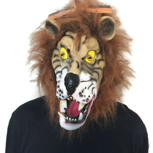 Adult-Lion-Mask-Full-Head-Cover-One-Size-Cosplay-Costume