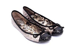 982b504d8 SAM EDELMAN Women s CALYPSO Metallic Cushioned Slip On Ballet Flats ...