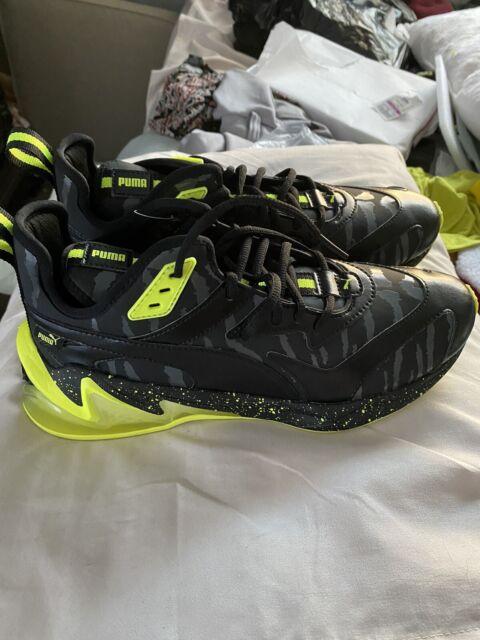 NEW Puma Men's Size 9 LQDCell Origin Black & Green Sneakers *GLOWS IN THE DARK*