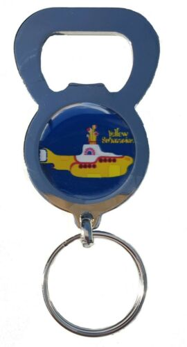 THE BEATLES YELLOW SUBMARINE BEER DRINK BOTTLE CAP OPENER KEYRING