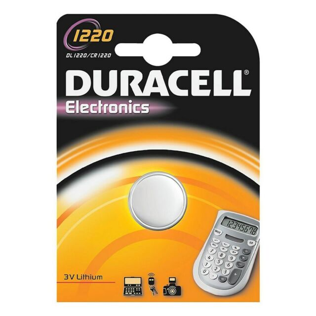 1 button battery CR1220 Duracell - lithium battery 3V - Validity 2021