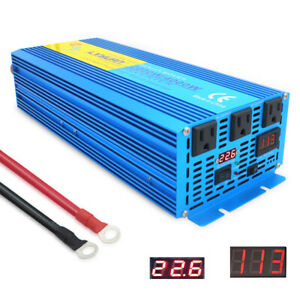 2000W-4000W-pure-sine-wave-power-inverter-24V-DC-to-110V-120V-AC-truck-Converter