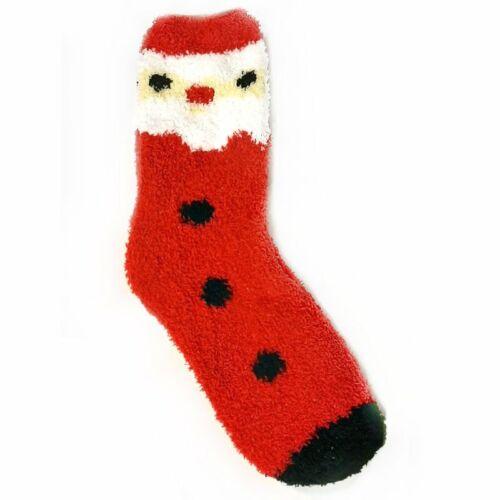 Ladies UK Size 4-8 Fluffy Cosy Christmas Novelty Socks Stocking Filler Gift