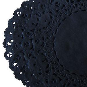 14 inch black paper doilies