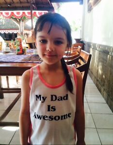 Unisex Awesome Singlets.Let your kids favourite Uncle Know for kids 6-8yrs old