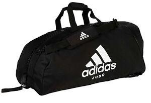 3fe0b6a65ee2e Das Bild wird geladen adidas-2in1-Bag-034-Judo-034-black-white-