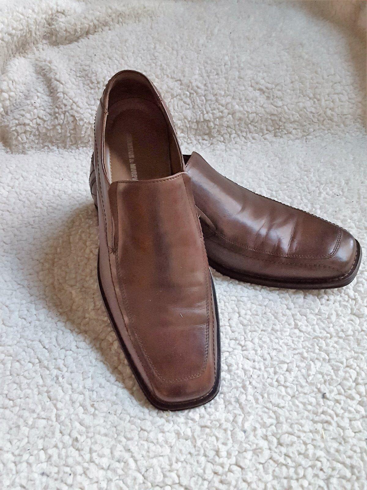 Men's Johnston & Murphy Brown Slip On, Brown, Size 9M