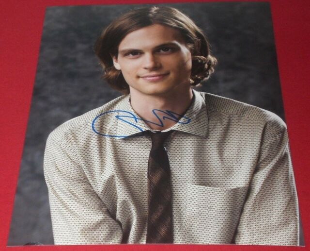 MATTHEW GRAY GUBLER SIGNED CRIMINAL MINDS YOUNG SPENCER REID 8X10 PHOTO  AUTO COA