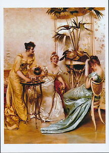 8x10 Print Elegant c19th Victorian Ladies Afternoon Tea Party at Palm Court