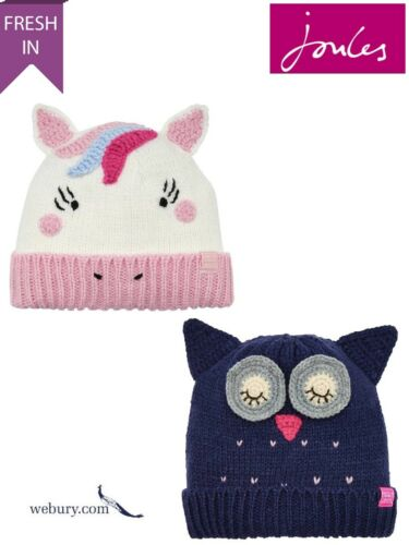 Owl or Chum Joules Chum Girls Character Knitted Hat Sizes 4-7 and 8-12 years