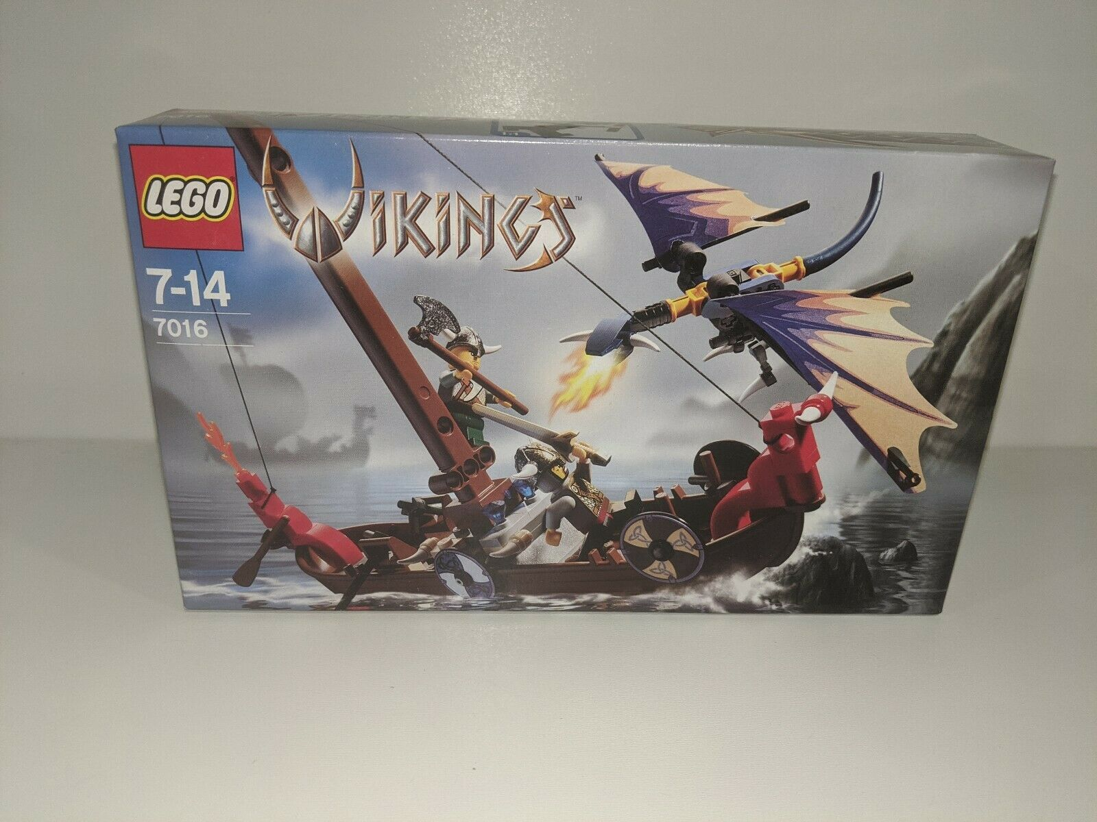 Lego Vikings  7016 Viking Boats Against The Wyvern Dragon Sealed Box