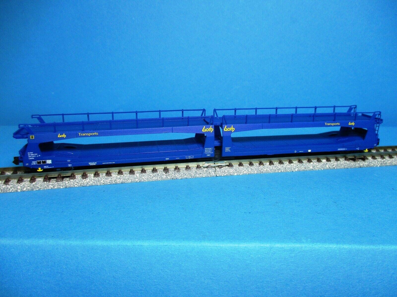 GOTH blau Ep.IV Hobbytrain MF 33266 Spur N Autotransporter TA 370 SBB