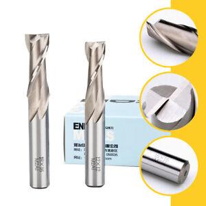 1-25mm HSS End Mill Cutter 2 Flute Milling Slot Drill Bit CNC Router 6-12mm SHK