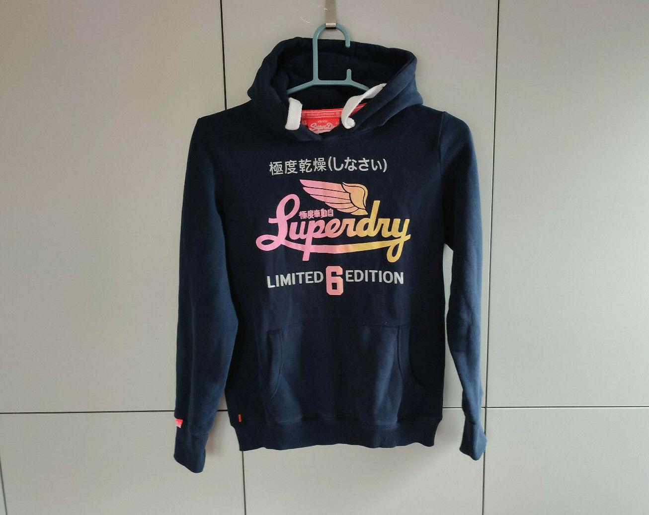 Womens Superdry Premium Hoodie Size XL Dark Blue