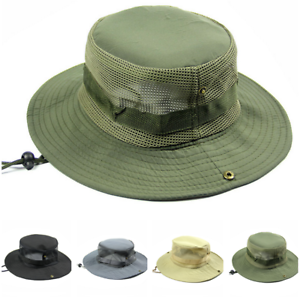 Unisex Outdoor Boonie Hat Bucket Cap Fishing Hunting Hiking hat Sun Protection