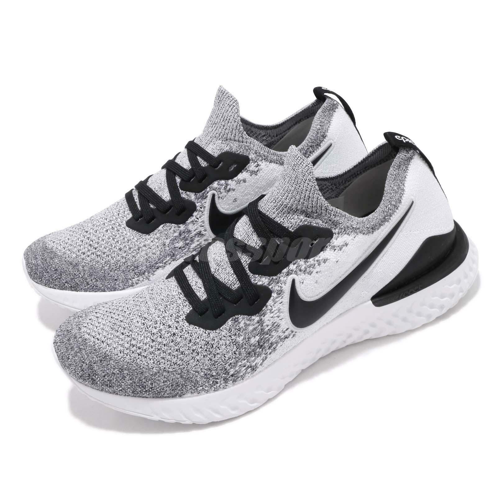 Nike Epic React Flyknit 2 White Black Men Running shoes Sneakers BQ8928-101