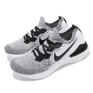 big sale c2a13 b3efe Details about Nike Epic React Flyknit 2 White Black Men Running Shoes  Sneakers BQ8928-101