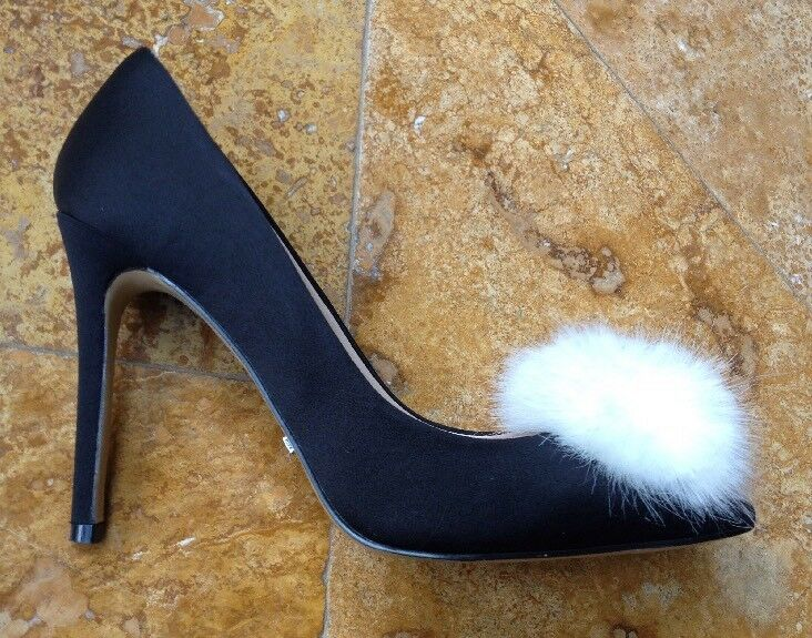 Top Shop Gazelle Fur Pounted Toe Pumps High Heel, Black, 9.5