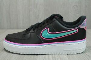 "61 New DS Nike Air Force 1 Low x NBA ""South Beach"" Shoes 10.5 11  AJ7748-002"