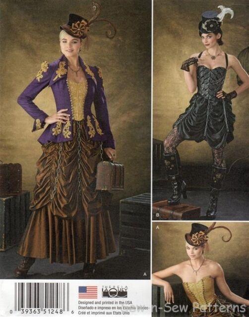 Simplicity 1248 UNCUT PATTERN 14-22 Steampunk Costume Chain Skirt Jacket Bustier