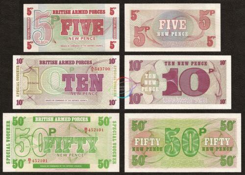 GREAT BRITAIN UK 5 10 50 Pence Set 3 PCS 1972 P-M47 M48 M49 UNC
