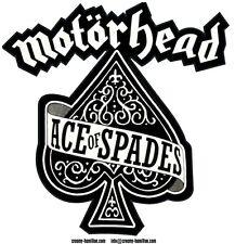 Motorhead 'Ace of Spades' self cling CLEAR vinyl window sticker Lemmy 9x9cm