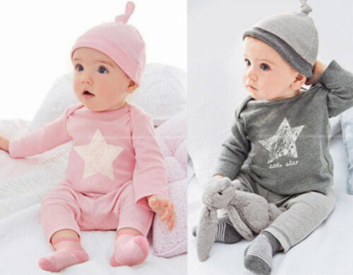 3PCS Set Baby Boys Girl Long Sleeve tops Pants+hat Kids Casual Clothes Outfits
