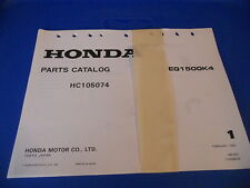 Honda Parts Catalog Engine 1981 EG1500K4 EG1500 K4