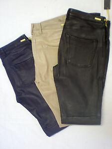 Just-Blue-Cuir-exclusive-cuir-Leggings-rohrenhose-Couleur-Noir-taille-31