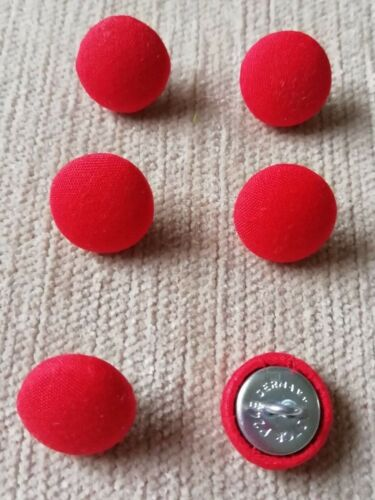 24L//15mm Rojo Botones cubierto de tela artesanía coser Tapicería