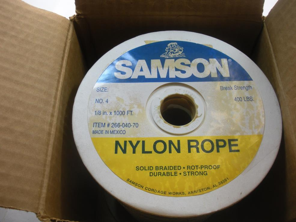 Samson 1 8 x 1000 ft Solid Braided Nylon Braid 20051