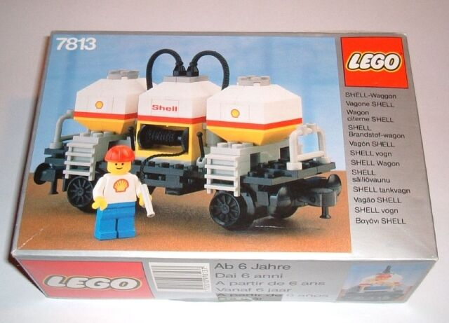 NEW Lego TRAIN TRAIN TRAIN 4.5 V 7813 Shell Tanker Wagon Sealed 8ee9a9