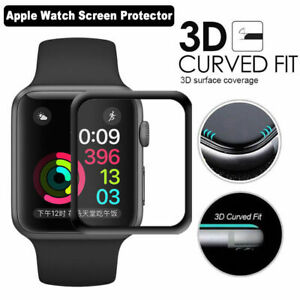 3D Full Curved Tempered Glass Screen Protector for Apple Watch iWatch  2 3 4 5 6